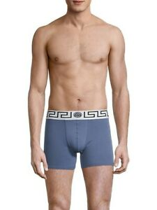 Versace Men's Underwear Versace Long Trunk with Greca Border Versace Parigamba
