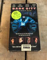 Dark City VHS Kiefer Sutherland Jennifer Connelly William Hurt Sci-Fi Thriller