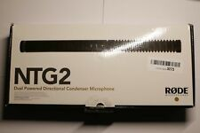 RODE NTG2 Shotgun Condenser Mic w/ Phantom Power *AUTHORIZED DEALER* NTG-2 Mint