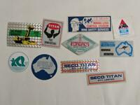 Retro Mining Sticker - 10 Stickers as pictured (Lot 20)