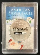 American Silver Eagle - From Santa - One Dollar Coin - Plastic Coin Holder