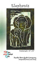 Elephants Quilt Pattern, Hawaiian Appliqué,  Pacific Rim Quilting Company