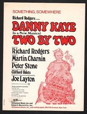 Something Somewhere 1970 Danny Kaye in Two By Two Sheet Music