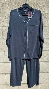 Roundtree & Yorke 2 Piece Pajama Set Mens Big & Tall XLT Soft Blue Knit NWT $70