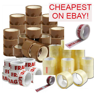 Packing Parcel Tape Box Packaging Brown, Clear, Fragile, Glass, Handle with care