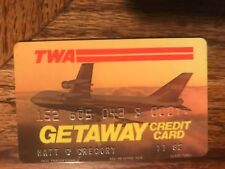 TWA Airlines Getaway Card Expired Credit Card Matt Gregory Producer Signed 1982