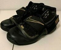 Lebron James Zoom Soldier Men's Basketball Shoes Black Gold 316643 001 Size 10