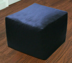"""22""""-Square-Pouf-Ottoman-Cover-Decorative-Footstool-Black-Seating-Ottoman-Covers"""