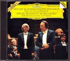 Arturo Benedetti Michelangeli: Mozart Piano Concerto No. 20 25 cord Garben PDO CD