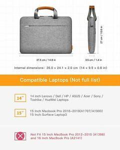 """14"""" 15'' 17'' Laptop Shoulder Bag Sleeve Case 360° Protection w/ Shoulder Strap"""