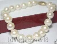 "Charming! 8-9mm Genuine Akoya White Pearl Bracelet 7.5"""