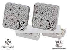 Auth LOUIS VUITTON Champs Elysees Cuff-links M65043 Steel Excellent Condition!!