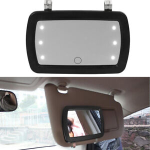 1PC Finger Touch Switch Car Sun Visor Sun-shading LED Make-up Cosmetic Mirror