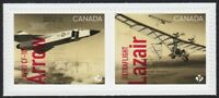AVRO CF-105 ARROW FIGHTER JET = ULTRAFLIGHT= pair cut fr booklet MNH Canada 2019