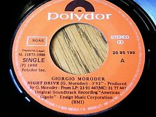 "GIORGIO MORODER - NIGHT DRIVE  7"" VINYL"