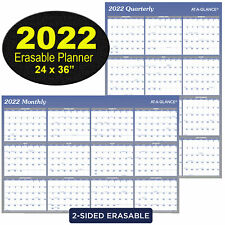 2022 At A Glance A1102 Erasable Wall Calendar Monthly Quarterly 24 X 36