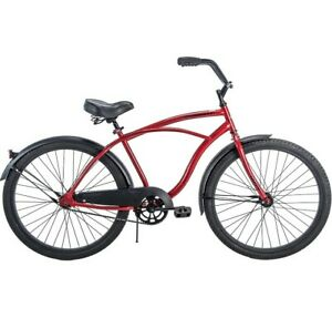 huffy cranbrook 26in perfect fit frame mens bicycle burgundy red and black