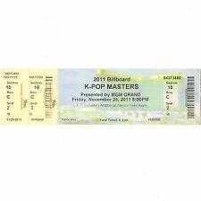 Beast K-Pop Masters Full Concert Ticket Stub Las Vegas 11/25/11 Mgm Grand Rare