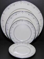 Noritake China 4 Piece Place Setting Service for 1 Venetian Scroll Dinner Salad