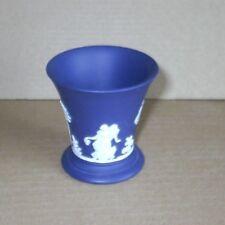 Wedgwood Jasperware Portland Blue Miniature Daning Hours Vase