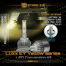 66W 5200LM Flip COB LED Kit 3000K Yellow Bulbs Fog Lights - 880 881 893 899 (B)