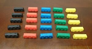 Ticket To Ride - 25 Replacement Train Cars, 5 of Each Color 2016 Parts Pieces