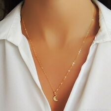 *EXTREMELY RARE* $110 14K GOLD MOON CRESCENT CHAIN NECKLACE BHLDN ANTHROPOLOGIE