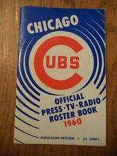 1960 OFFICIAL CHICAGO CUBS PRESS TV RADIO ROSTER BOOK MIDSEASON EDITION