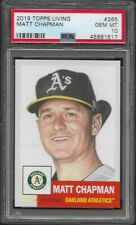 2019 Topps Living Set # 265 MATT CHAPMAN Gem Mint PSA 10 Oakland Athletics