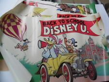 c.1980 Walt Disney Productions Back To School Poster Lot Mickey Mouse Vintage