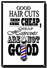 HAIRDRESS AND BARBER SHOP QUOTE A4 METAL SIGN, BARBER