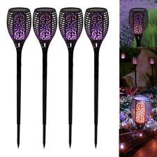 4PCS 33 LED Solar Garden Flame Light Flickering Torch Lamp Outdoor Waterproof L