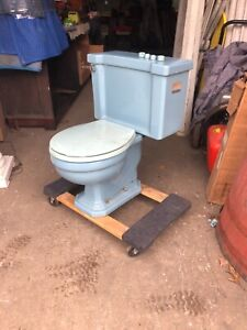vintage c1950 Antique Toilet American Standard Powder blue very good condition