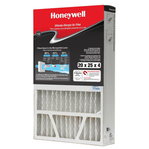 "FPR 10 Allergen Air Filter Honeywell Cleaner MERV 12 20"" x 25"" x 4"" NEW"