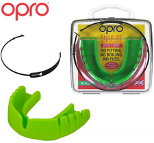 Opro Mouthguard Snap-Fit Gum Shield + Strap for Ball, Combat and Stick Sports -