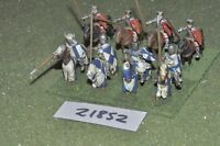 25mm medieval / english - men at arms 8 figs cavalry - cav (21852)