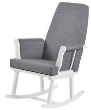KUB Haldon Rocking Chair - White With Grey Cushions Grade B
