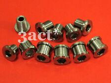 15pcs Titanium / Ti Bolt & Nut (10 Bolts & 5 Nuts) for crankset chainring