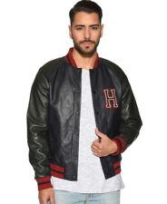 Tommy Hilfiger Felippe Baseball Leather Bomber Jacket...