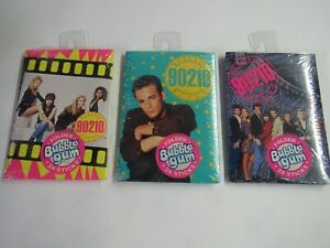 Vintage 1991 Set Of 3 Different Beverly Hills 90210 Bubble Gum Folders Sealed