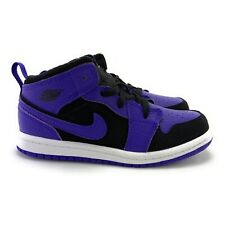Nike Youth Girl's Jordan 1 Mid Black Dark Concord Athletic Shoes Size 10C (TD)