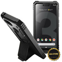 Case For Google Pixel 3 XL Stand Cover Shockproof Armor Black