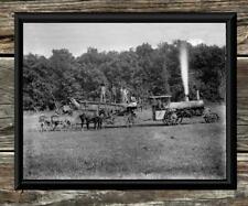 "Spectacular... Antique Steam Tractor & Hay Baler...  8""x10"" Photo Print"