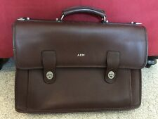 Vtg Sacoche Brown Cowhide Leather Briefcase Messenger Bag Computer Case