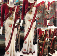 Saree Blouse GEORGETTE Fabric Wedding Wear Ethnic Indian Bollywood Designer Sari