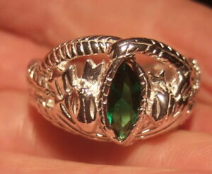 STERLING SILVER LORD OF THE RINGS ARAGORN'S RING OF BARAHIR UK SIZE N.5