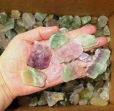 1/2 Pound  Natural FLUORITE  Purple. Green, Blue White Gemstone Rough