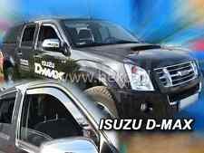 Saute vent ISUZU D-Max I 4-porte 2006-2012 4-tlg HEKO foncé Déflecteurs