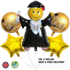 Graduation Foil Helium/air Balloons Congratulation party decoration straw ribbon