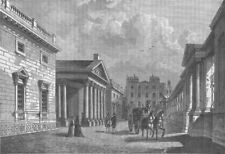 CARLTON HOUSE. Front of Carlton House, 1820. London c1880 old antique print